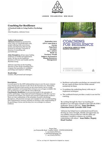 Coaching for Resilience - Kogan Page