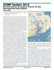 CCMP Update 2012 - Narragansett Bay Estuary Program