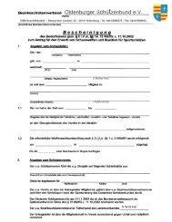 Antrag - Oldenburger Schützenbund