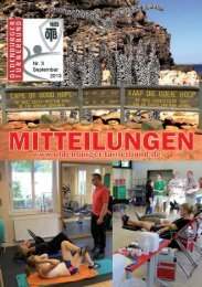 OTB-Mitteilungen 3/2013 - Oldenburger Turnerbund