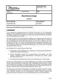 20. September 2010, Hauptausschuss, TOP 6 - Bad Oldesloe