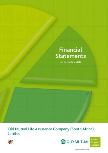 Notes to the annual financial statements - Old Mutual