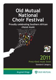 Prescribed music book Proudly celebrating Southern ... - Old Mutual