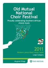 Large Category - Western Music Booklet - Old Mutual
