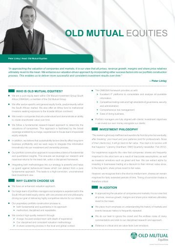 Old Mutual Equities brochure