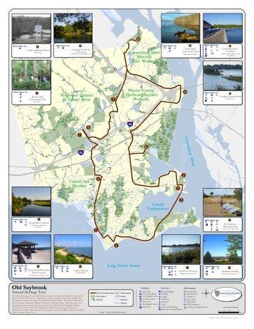 Natural Heritage Tour map - Town of Old Saybrook