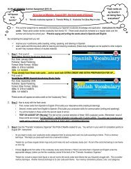 AP SPANISH-Summer Assignment 2013 - Olentangy Local Schools
