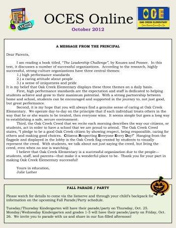 Oct. 2012 newsletter - Olentangy Local Schools
