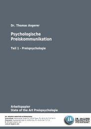Die Psychologie des guten Geschäfts. - Dr. Angerer Marketing ...