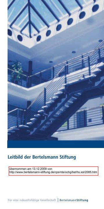 Leitbild der Bertelsmann Stiftung