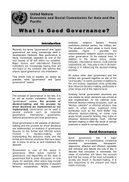 What is Good Governance? - Escap