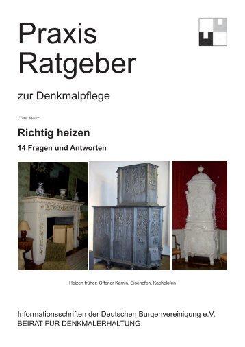 Richtig heizen 14 Fragen und Antworten - Deutsche ...