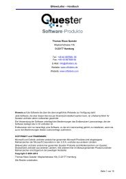 QNewsLetter – Handbuch - Thomas Quester Software