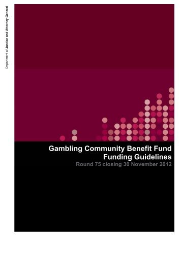 GCBF Round 75 funding guidelines closing 31 Nov 2012