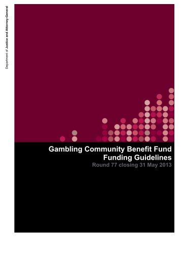 Gambling Community Benefit Fund - Funding Guidelines