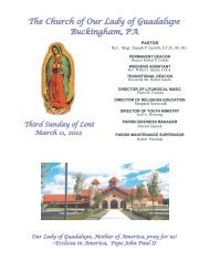 The Church of Our Lady of Guadalupe Buckingham, PA