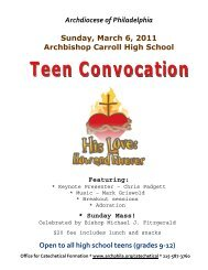 Teen Convocation 2011 - Olguadalupe.org