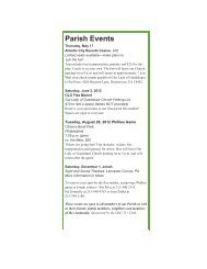 Parish Events - Our Lady of Guadalupe