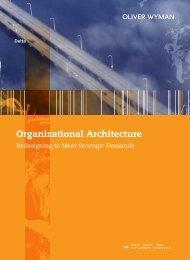 Organizational Architecture - Oliver Wyman