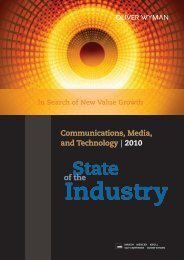 Communications, Media, and Technology - Oliver Wyman