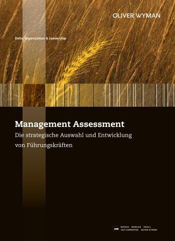 Management Assessment - Oliver Wyman
