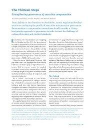 The Thirteen Steps Strengthening governance of ... - Oliver Wyman