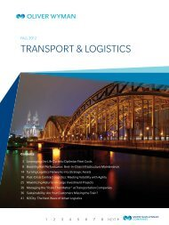 TransporT & logisTics - Oliver Wyman