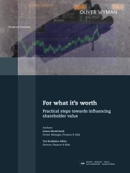 For what it's worth - Oliver Wyman