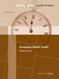 European Retail Credit - Oliver Wyman