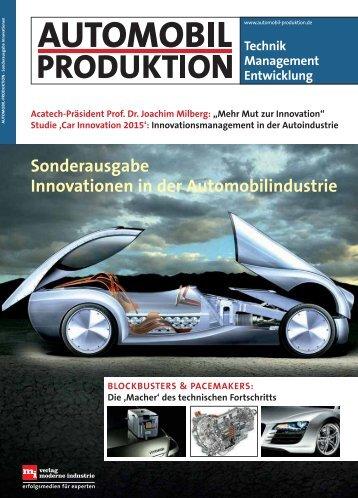 automobil-produktion sonderausgabe innovation - car innovation
