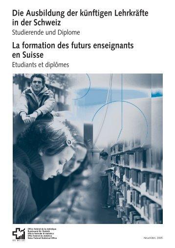 Die Ausbildung der künftigen Lehrkräfte in der Schweiz La ... - OLLO