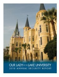 reporting crimes and other emergencies - Our Lady of the Lake ...