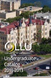 Undergraduate Catalog - Our Lady of the Lake University
