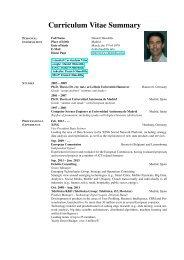 Short CV - Daniel Olmedilla