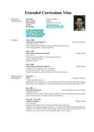 Extended CV - Daniel Olmedilla