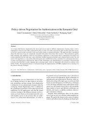 Policy-driven Negotiation for Authorization in the ... - Daniel Olmedilla