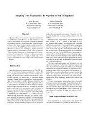 Adopting Trust Negotiations: To Negotiate or Not ... - Daniel Olmedilla