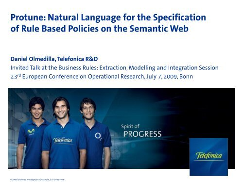 Natural Language for the Specification of Rule ... - Daniel Olmedilla