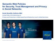 Semantic Web Policies for Security, Trust ... - Daniel Olmedilla