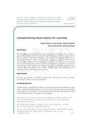 Conceptualising Smart Spaces for Learning - Daniel Olmedilla