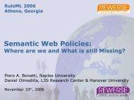 Semantic Web Policies: - Daniel Olmedilla