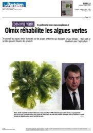 Olmix réhabilite les algues vertes
