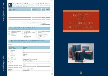 Handbuch der historischen Buchbestände - Olms
