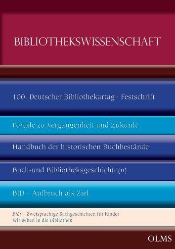 BIBLIOTHEKSWISSENSCHAFT - Olms