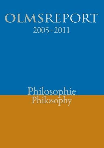 OLMSREPORT Philosophie