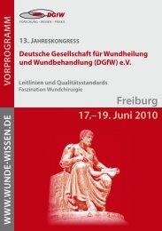 Freiburg - Deutsche Gesellschaft für Wundheilung und ...