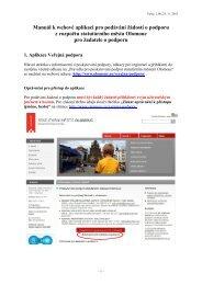 Manuál k webové aplikaci pro podávání žádostí o podporu z ...