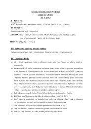 Komise městské části Nedvězí Zápis ze schůze 21. 3. 2013 I ...