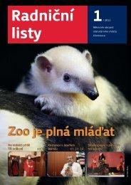Zoo je plná mláďat - Statutární město Olomouc