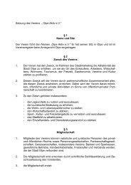 """Satzung des Vereins """" Olpe Aktiv e.V."""" § 1 Name und Sitz Der Verein ..."""